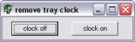 Remove Clock logo